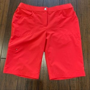 Chico's Weekend Bermuda Shorts Red Size 4/6